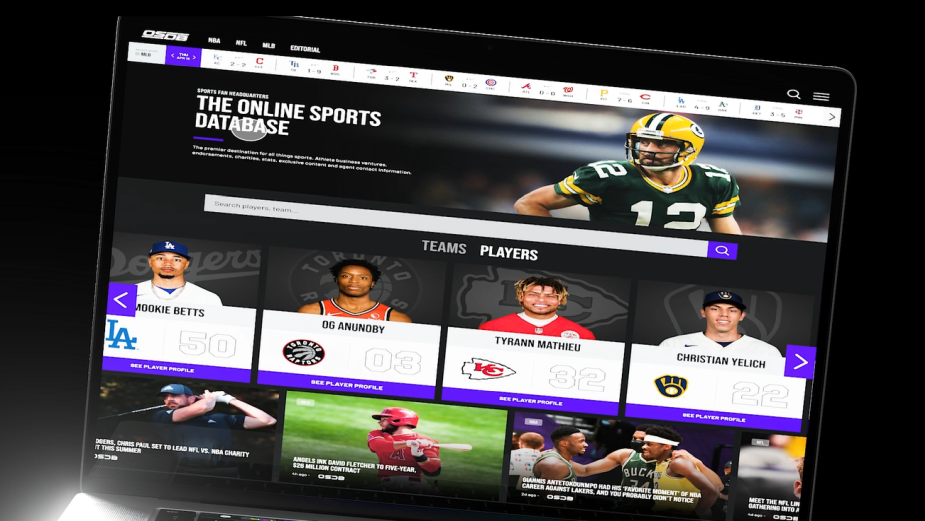 Brand Agency SCS Teams with OSDB Sports to Launch IMDb-Like Sports Platform | LBBOnline